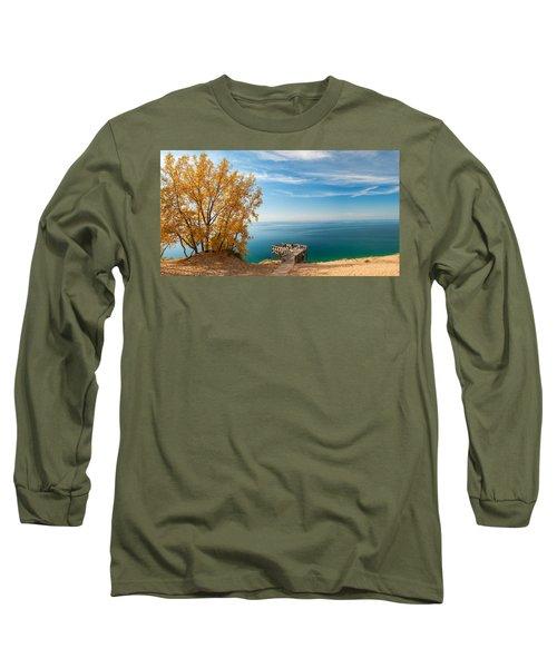 Sleeping Bear Overlook Long Sleeve T-Shirt by Larry Carr