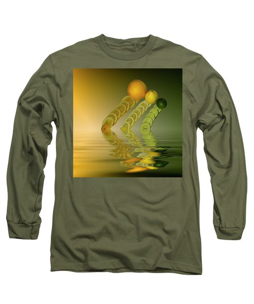 Long Sleeve T-Shirt featuring the photograph Slices  Grapefruit Lemon Lime Citrus Fruit by David French