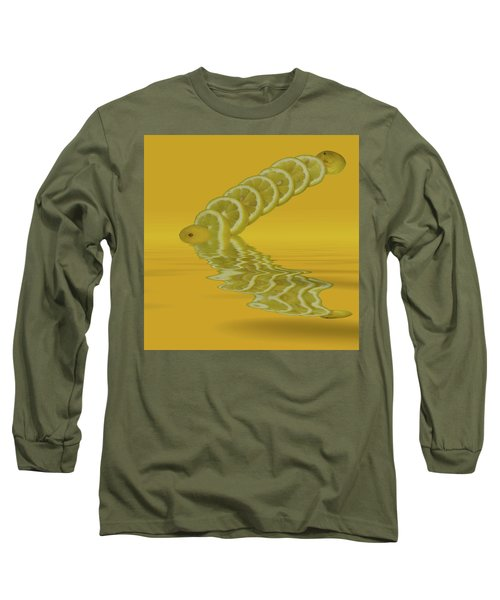 Long Sleeve T-Shirt featuring the photograph Slices Lemon Citrus Fruit by David French