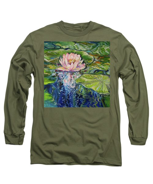 Solitude Waterlily Long Sleeve T-Shirt by Marcia Baldwin