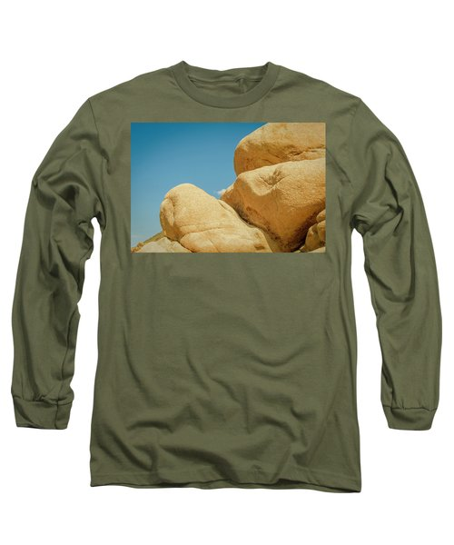 Stacked Boulders Joshua Tree Long Sleeve T-Shirt by Amyn Nasser