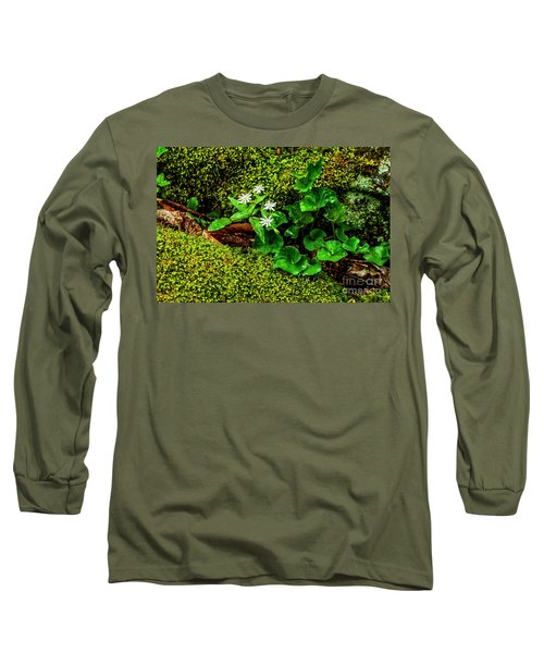 Star Chickweed Mossy Rock Long Sleeve T-Shirt