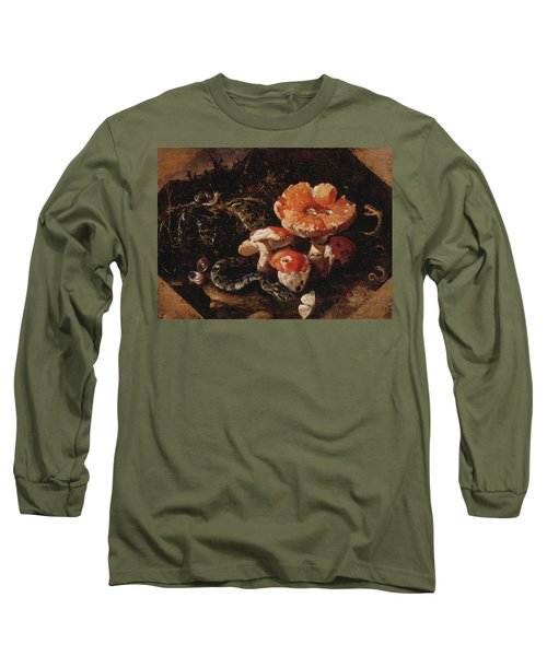 Still Life With Serpents, Fly Agarics And Thistles Long Sleeve T-Shirt