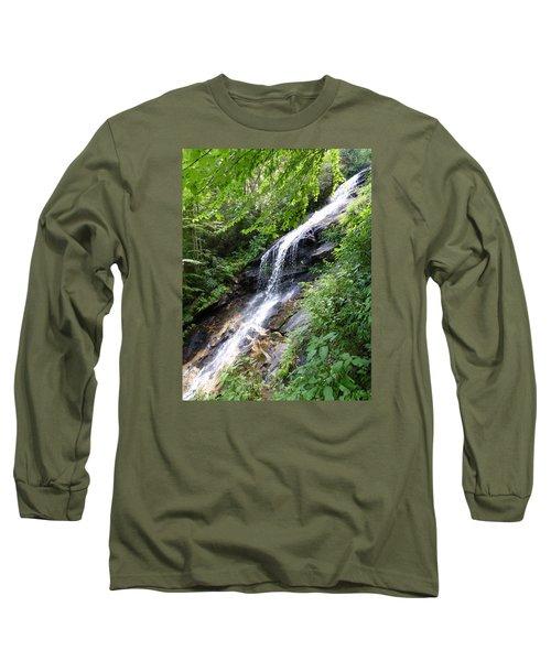 Long Sleeve T-Shirt featuring the photograph Sunlit Cascade by Joel Deutsch