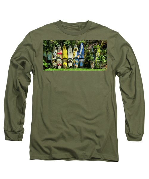 Surfboard Fence Maui Hawaii Long Sleeve T-Shirt