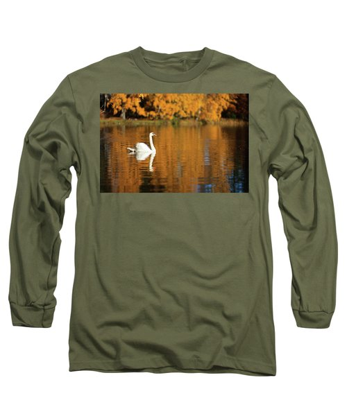 Swan On A Lake Long Sleeve T-Shirt