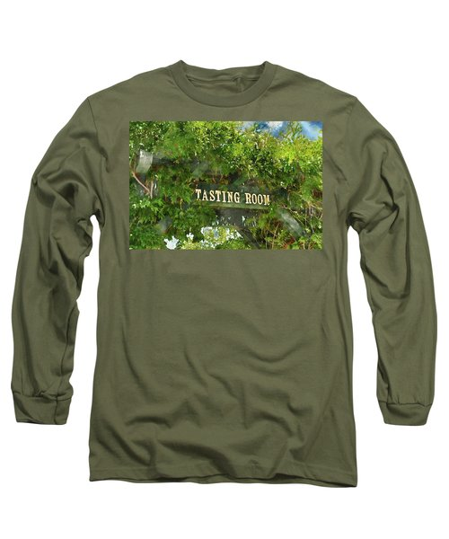 Tasting Room Sign Long Sleeve T-Shirt