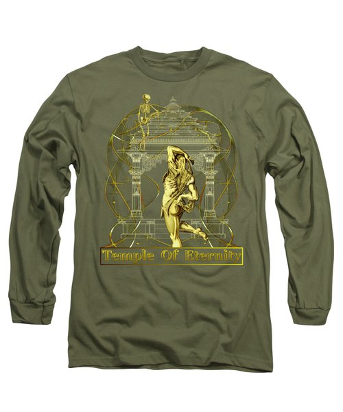 Temple Of Eternity Long Sleeve T-Shirt by Robert G Kernodle