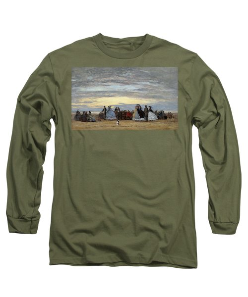 The Beach At Villerville Long Sleeve T-Shirt