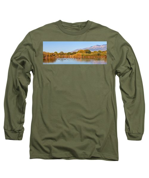 Long Sleeve T-Shirt featuring the photograph The Bosque by Gina Savage