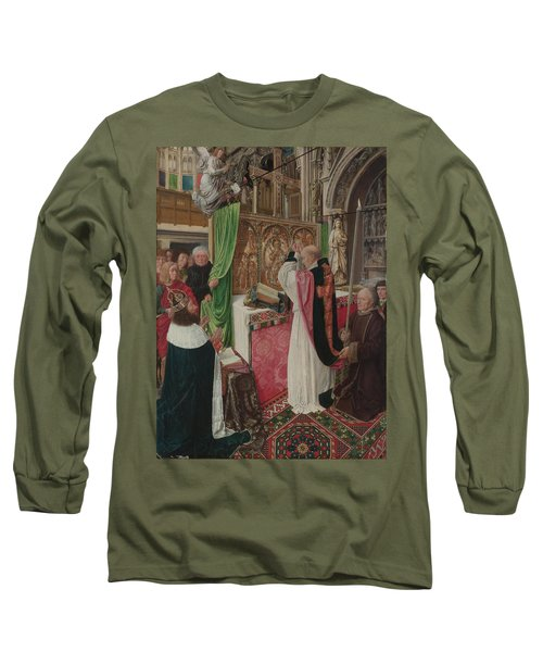The Mass Of Saint Giles Long Sleeve T-Shirt by Master of Saint Giles