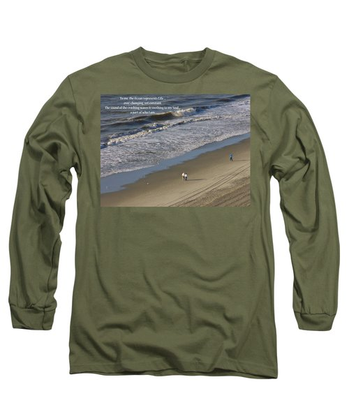 Long Sleeve T-Shirt featuring the photograph The Ocean by Rhonda McDougall