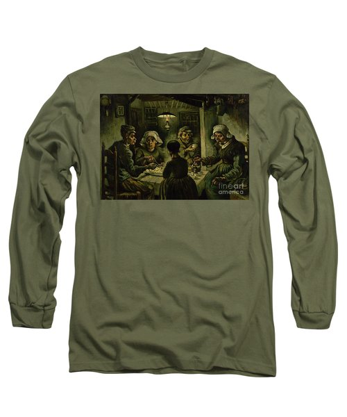 The Potato Eaters, 1885 Long Sleeve T-Shirt by Vincent Van Gogh