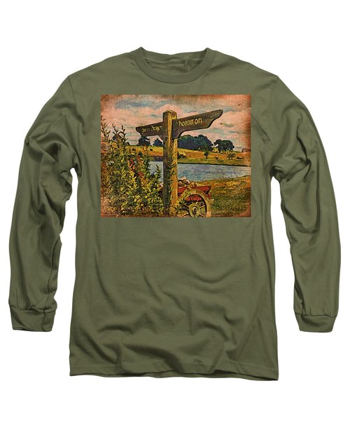 Long Sleeve T-Shirt featuring the digital art The Road To Hobbiton by Kathy Kelly