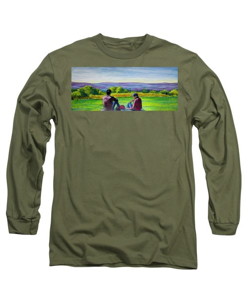 The View Long Sleeve T-Shirt by Ron Richard Baviello