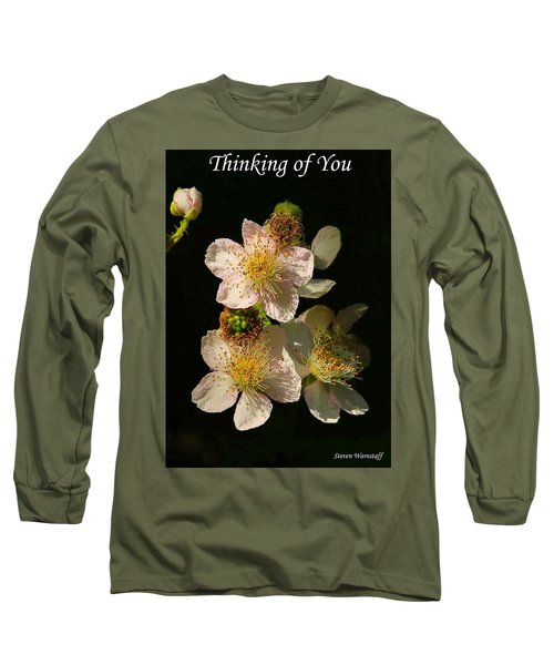 Thinking Of You Long Sleeve T-Shirt by Steve Warnstaff