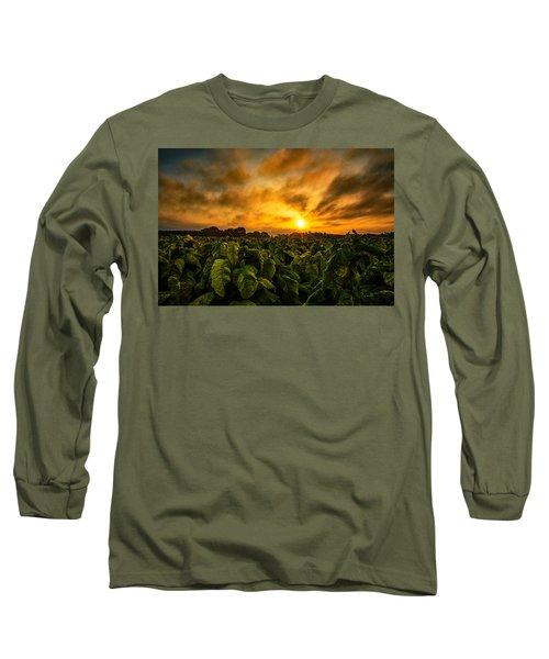 Tobacco Sunrise  Long Sleeve T-Shirt