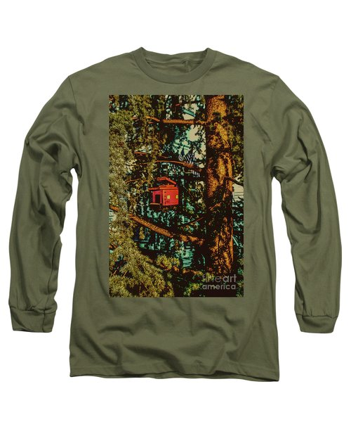 Train Bird House Long Sleeve T-Shirt