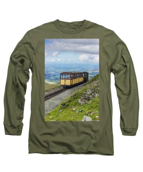 Train To Snowdon Long Sleeve T-Shirt by Ian Mitchell