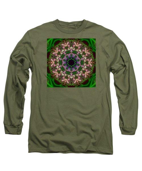 Long Sleeve T-Shirt featuring the digital art Transition Flower 10 Beats by Robert Thalmeier