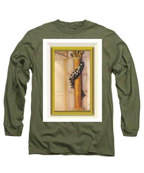 Trompe L'oeil Column Long Sleeve T-Shirt