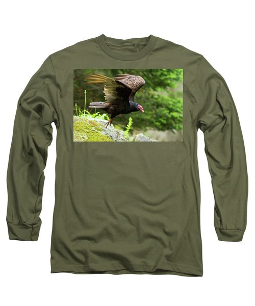 Long Sleeve T-Shirt featuring the photograph Turkey Vulture by Mircea Costina Photography
