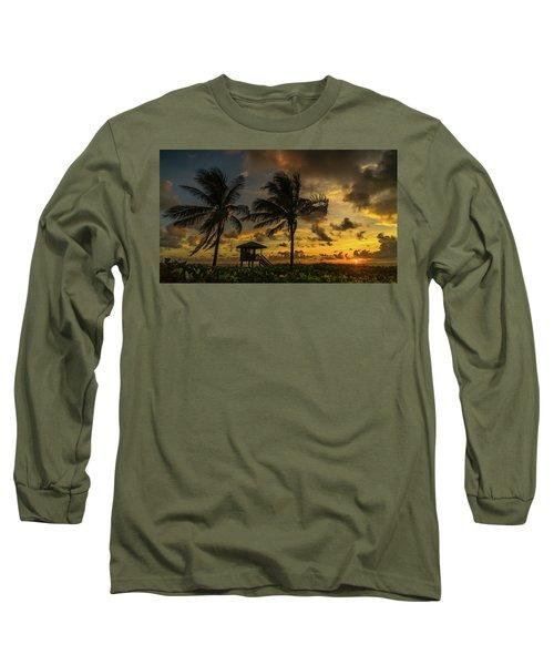 Two Palm Sunrise Delray Beach Florida Long Sleeve T-Shirt