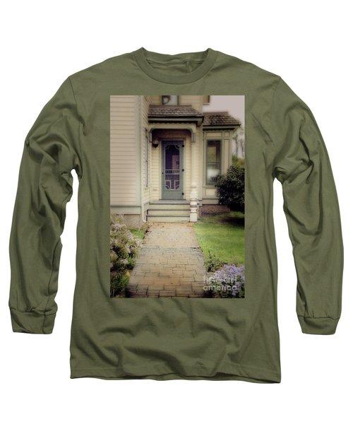 Long Sleeve T-Shirt featuring the photograph Victorian Porch by Jill Battaglia