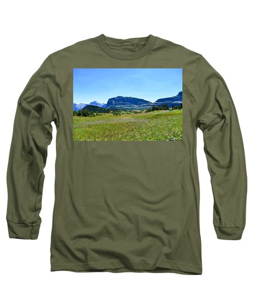 Long Sleeve T-Shirt featuring the photograph View From Logans Pass by Dacia Doroff