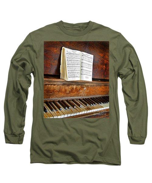 Vintage Piano Long Sleeve T-Shirt by Jill Battaglia