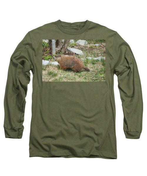 Long Sleeve T-Shirt featuring the photograph Visitor  by Vicky Tarcau