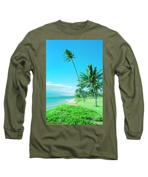 Long Sleeve T-Shirt featuring the photograph Waipuilani Beach Kihei Maui Hawaii by Sharon Mau