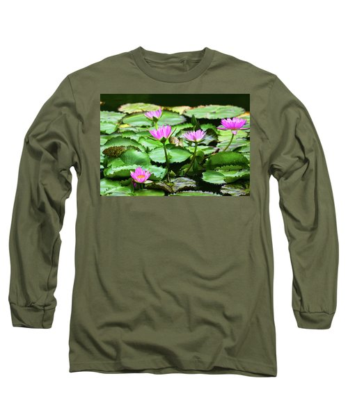 Long Sleeve T-Shirt featuring the photograph Water Lilies by Anthony Jones