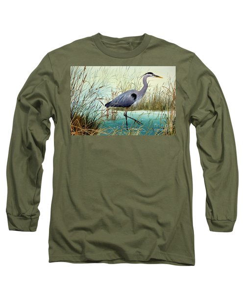 Long Sleeve T-Shirt featuring the painting Wetland Beauty by James Williamson