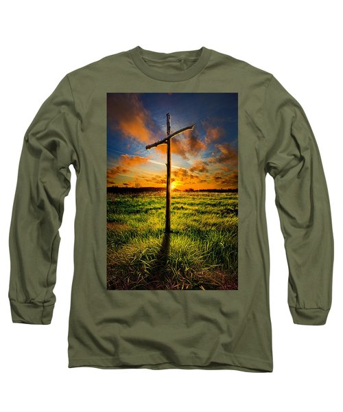 What Will Be Will Be Long Sleeve T-Shirt by Phil Koch