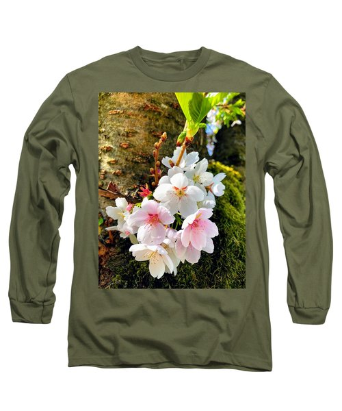 White Apple Blossom In Spring Long Sleeve T-Shirt