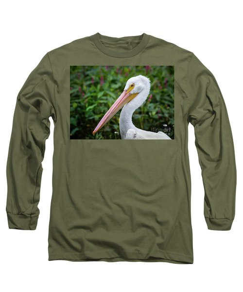 White Pelican Long Sleeve T-Shirt by Robert Frederick