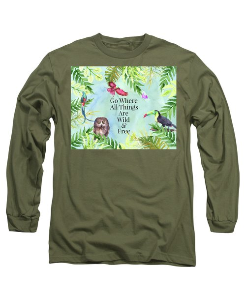 Wild And Free Long Sleeve T-Shirt by Colleen Taylor