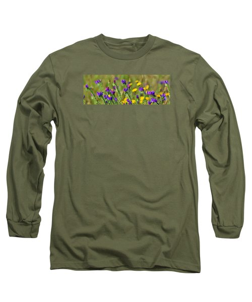 Long Sleeve T-Shirt featuring the photograph wild Flowers by Werner Lehmann