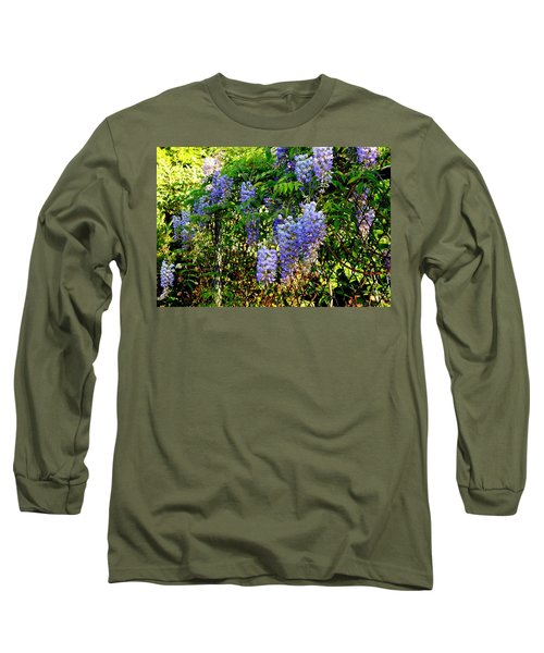 Long Sleeve T-Shirt featuring the photograph Wisteria by Betty-Anne McDonald