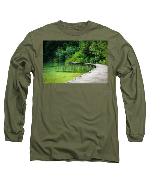 Wooden Path In The Forest Long Sleeve T-Shirt