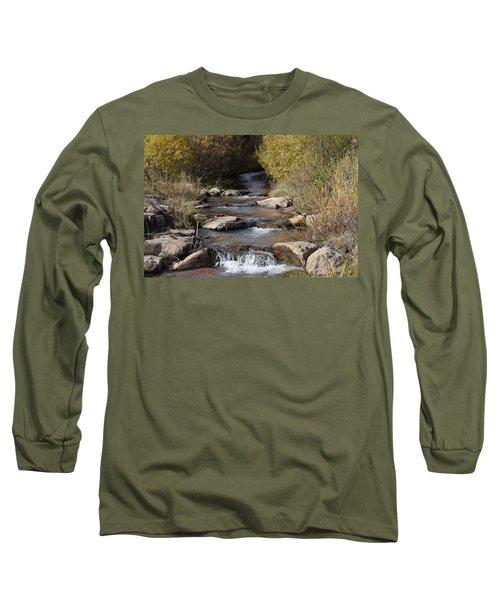 Waterfall Westcliffe Co Long Sleeve T-Shirt