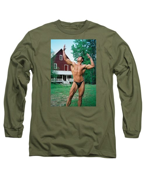 Long Sleeve T-Shirt featuring the photograph Muscle Art America by Jake Hartz