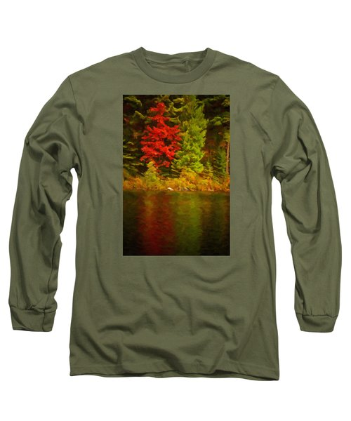 Fall Reflections Long Sleeve T-Shirt by Andre Faubert