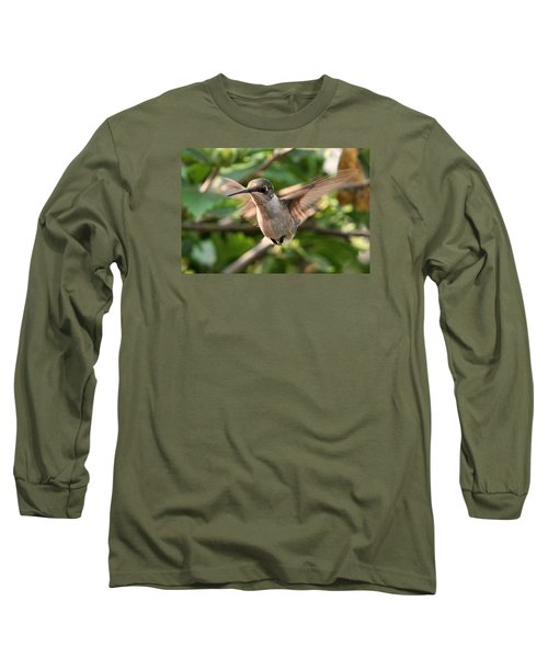 Long Sleeve T-Shirt featuring the photograph Hummingbird by John Freidenberg
