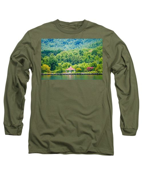Long Sleeve T-Shirt featuring the photograph Scenery Around Lake Lure North Carolina by Alex Grichenko