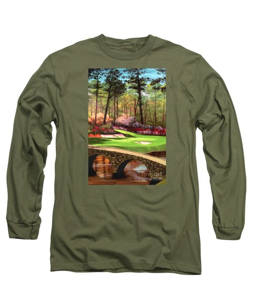 12th Hole At Augusta Ver Long Sleeve T-Shirt by Tim Gilliland