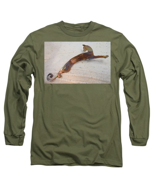 1375 Stealth Cat Long Sleeve T-Shirt by Dianne Brooks