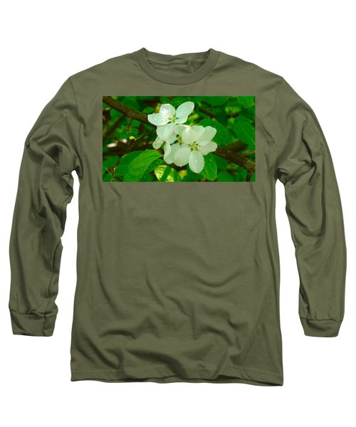 Apple Blossoms Long Sleeve T-Shirt by Johanna Bruwer