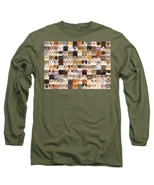 140 Random Cats Long Sleeve T-Shirt